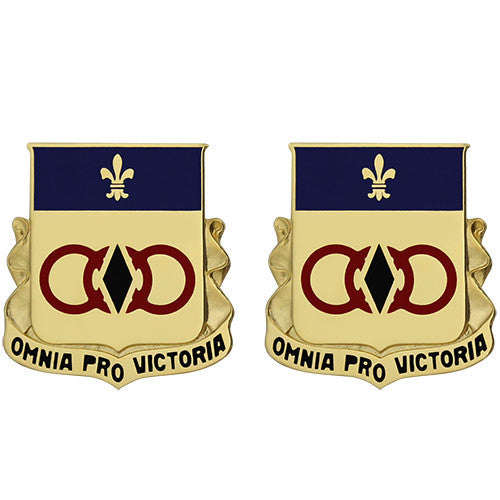 727th Maintenance Battalion Unit Crest (Omnia Pro Victoria)