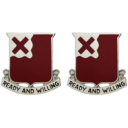 875th Engineer Battalion Unit Crest (Ready and Willing)