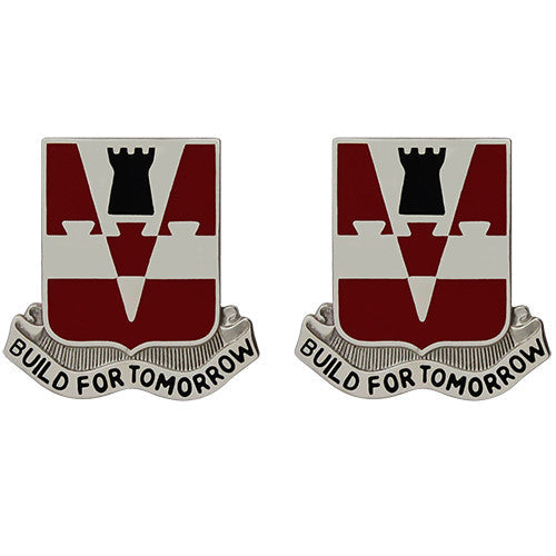 876th Engineer Battalion Unit Crest (Build for Tomorrow)