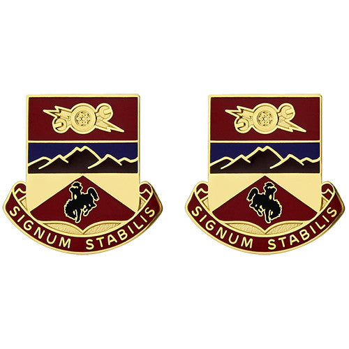 960th Support Battalion Unit Crest (Signum Stabilis)