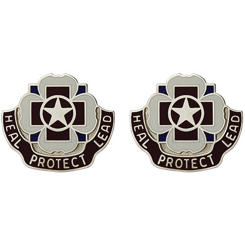 3297th Hospital Unit Crest (Heal Protect Lead)