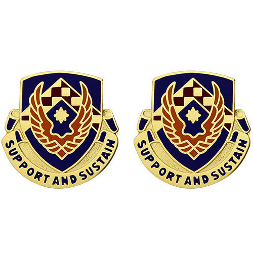 Aviation Logistics School Unit Crest (Support and Sustain)