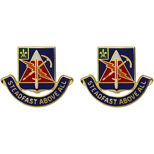 Special Troops Battalion, 4th Brigade, 10th Mountain Division Unit Crest (Steadfast Above All)