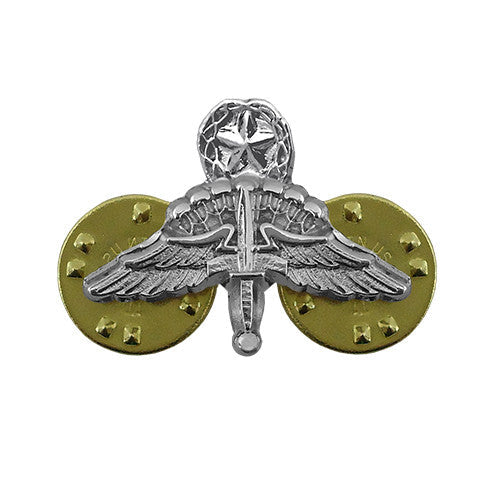 Miniature Military Free Fall Jumpmaster Parachute (HALO Wings) Badge