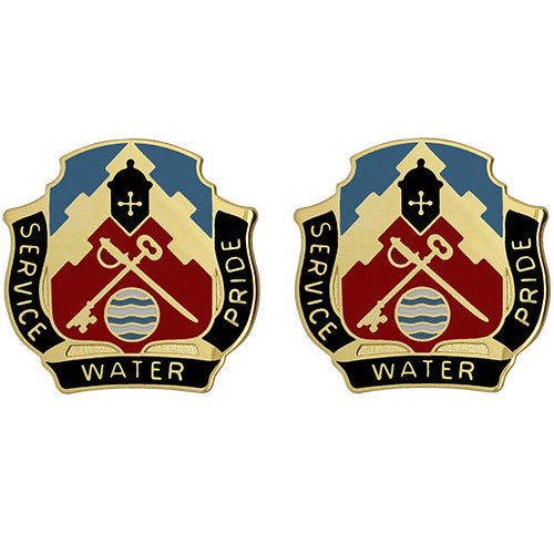 3678th Support Battalion Unit Crest (Service Water Pride)
