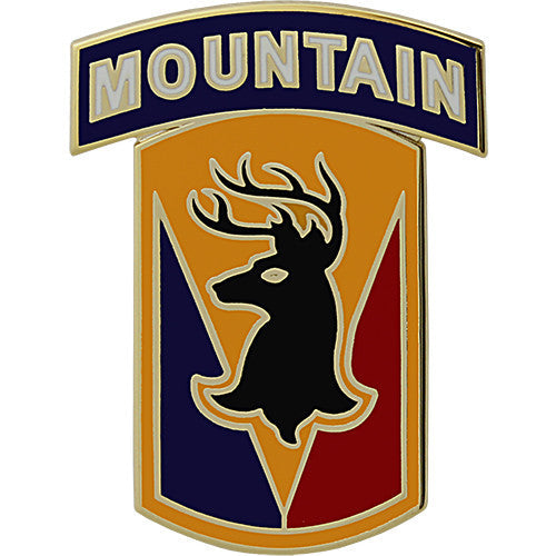 86th Infantry Brigade Combat Team With Mountain Tab Combat Service Identification Badge