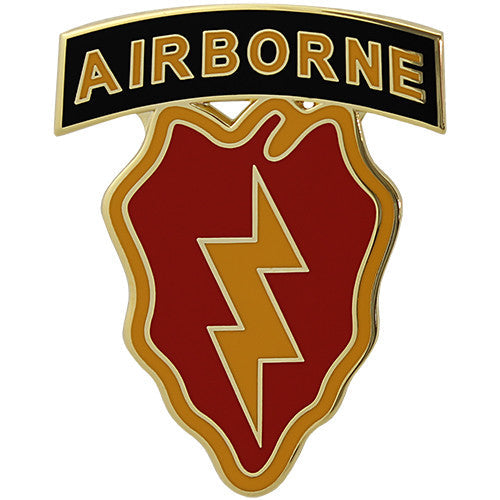 25th Infantry Division With Airborne Tab Combat Service Identification Badge