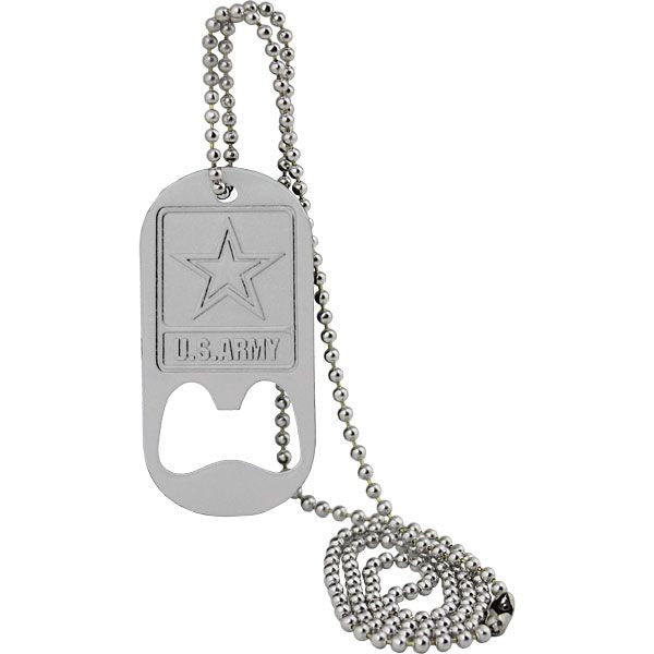 U.S. Army Star Logo Dog Tag Bottle Opener