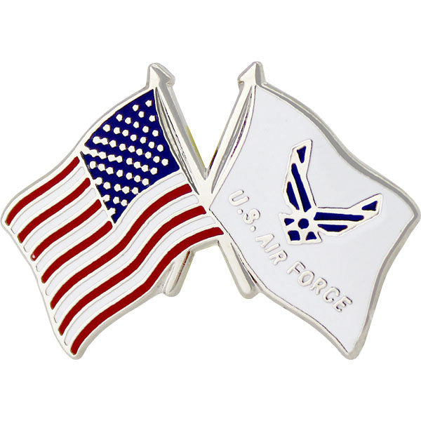 American and Air Force Hap Arnold Wings Crossed Flags 1
