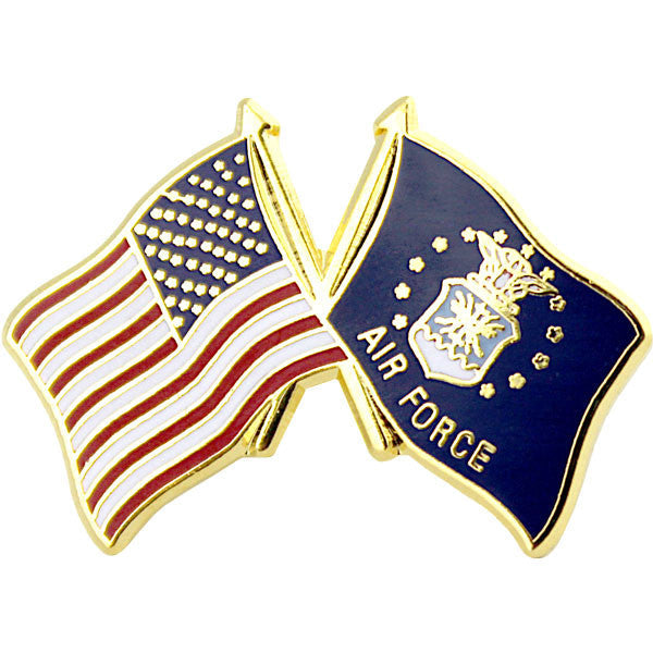 American and Air Force Crossed Flags 1