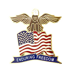 American Flag Eagle with Enduring Freedom Banner 1