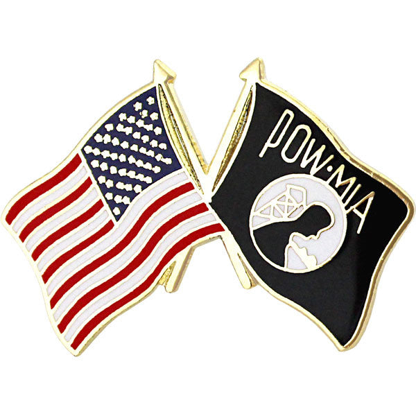 American and POW/MIA Crossed Flags 1
