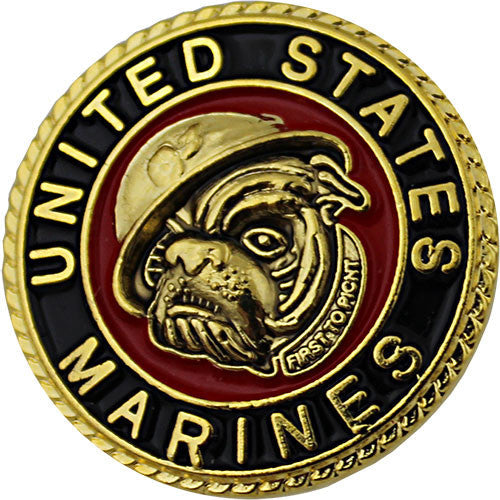 Marine Corps With Centered Bulldog 7/8