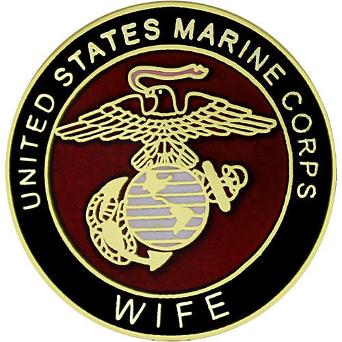 Marine Corps Wife with Crest 3/4