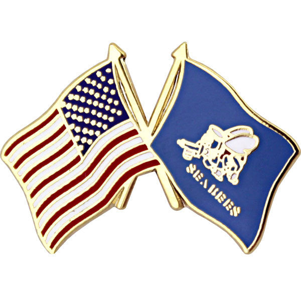 American and Seabee Crossed Flags 1