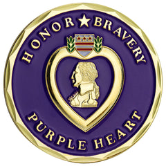 Purple Heart Coin - Honor and Bravery