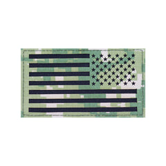 U.S Flag Patch Reversed - Woodland