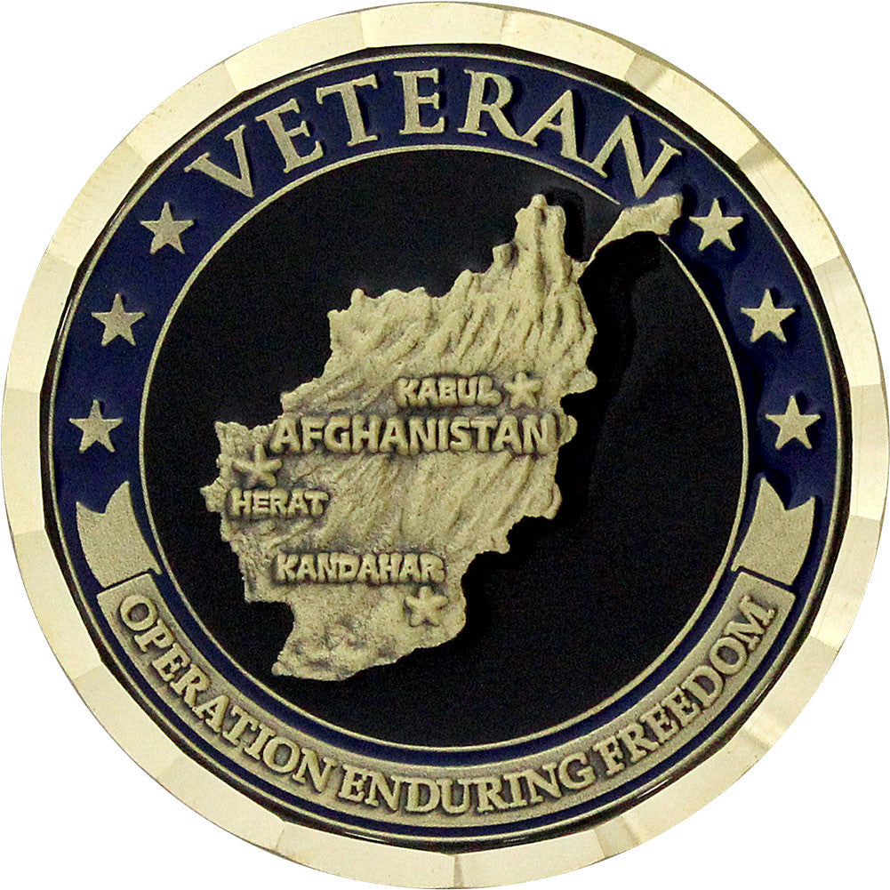 Operation Enduring Freedom Veteran Coin - Front