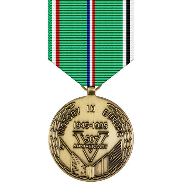 World War II Victory in Europe 50th Anniversary Commemorative Medal