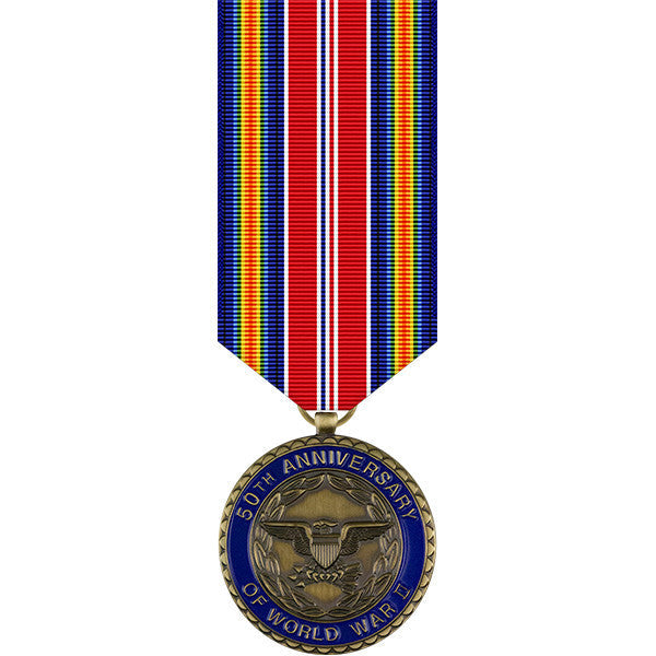World War II 50th Anniversary Commemorative Miniature Medal