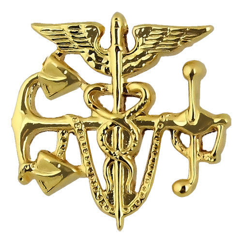 Public Health Service Gold Anchor with Caduceus Collar Device