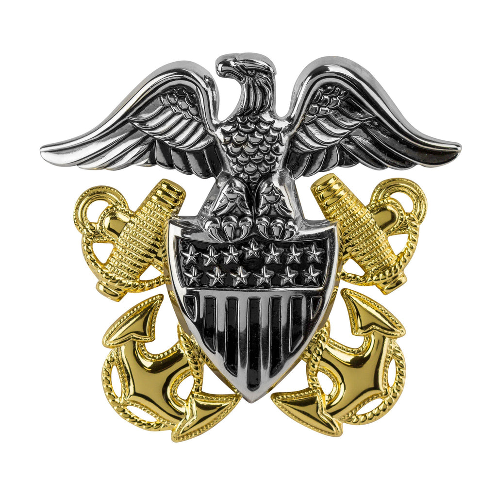 Navy High Relief Cap Device - Officer