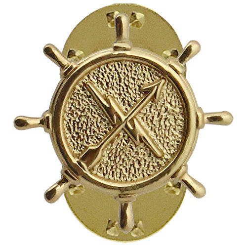 Navy Operations Technician Collar Device - Gold Finish