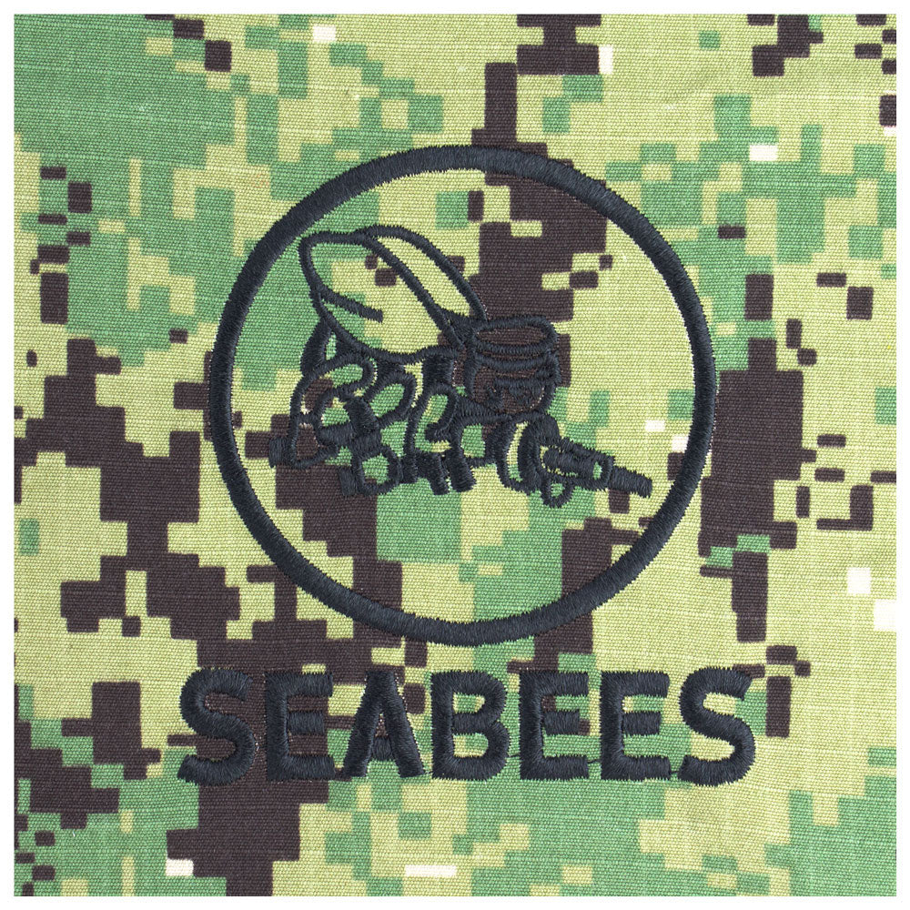 US Navy Embroidered Badge - Seabees