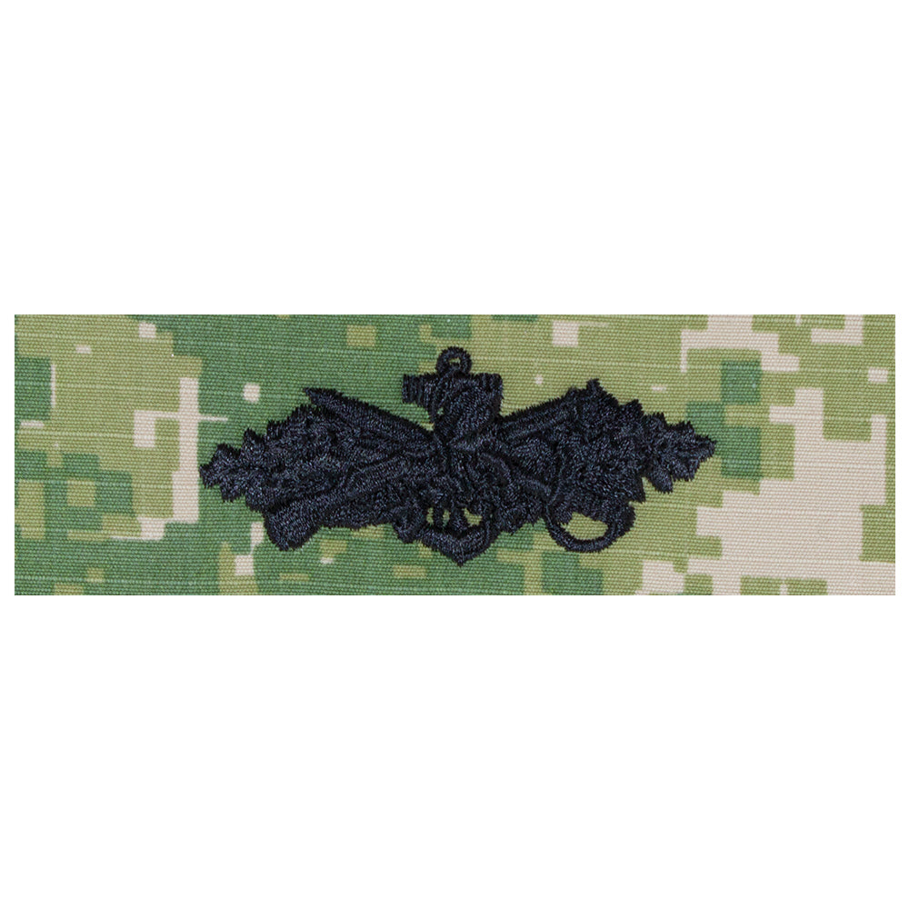 US Navy Embroidered Badge - Seabee Combat Warfare Officer
