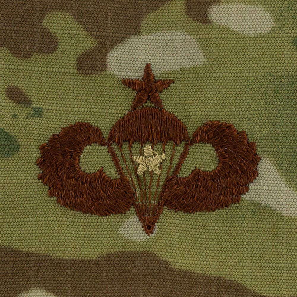 Air Force Senior Combat Parachutist Badges Embroidered - OCP