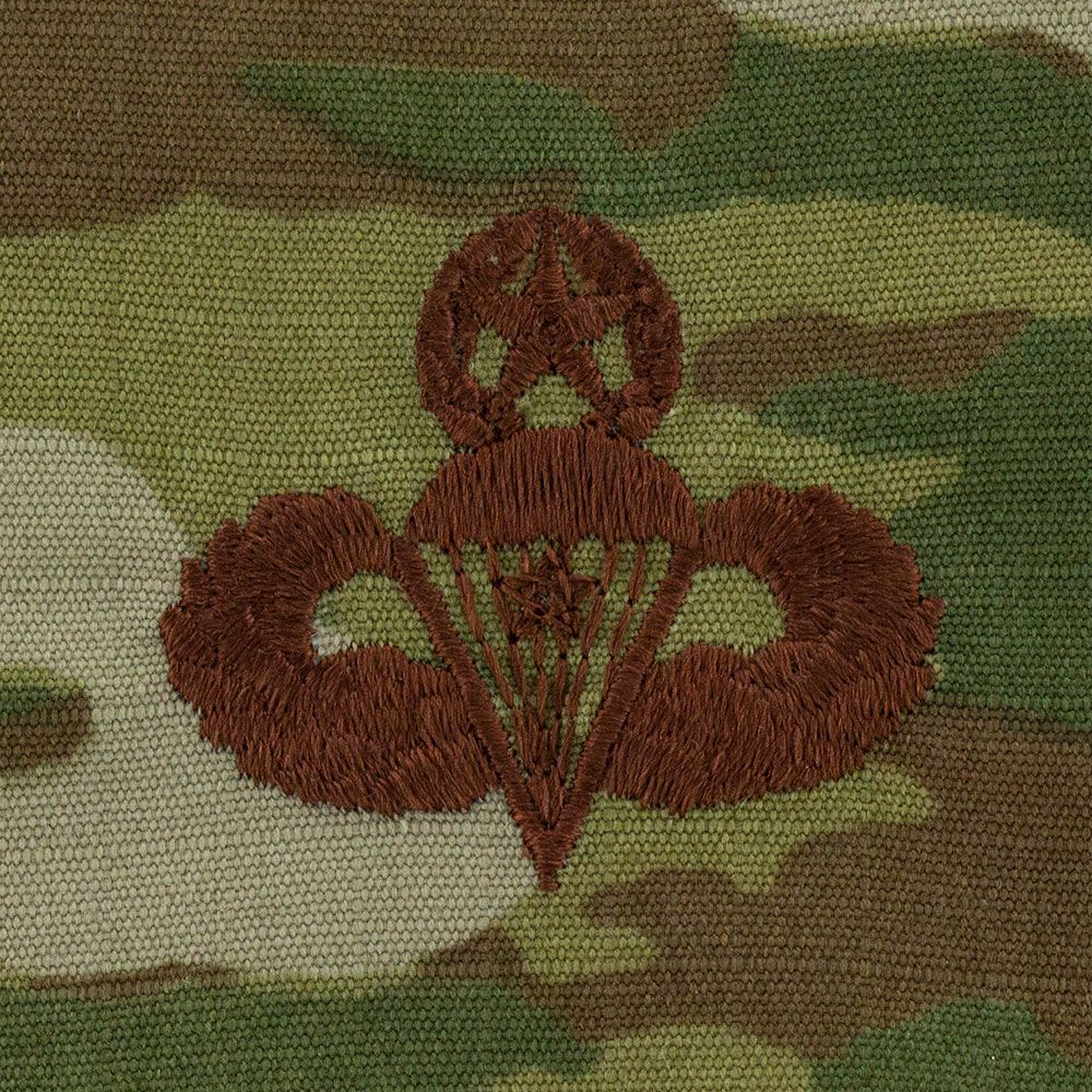 Air Force Master Combat Parachutist Badges Embroidered - OCP