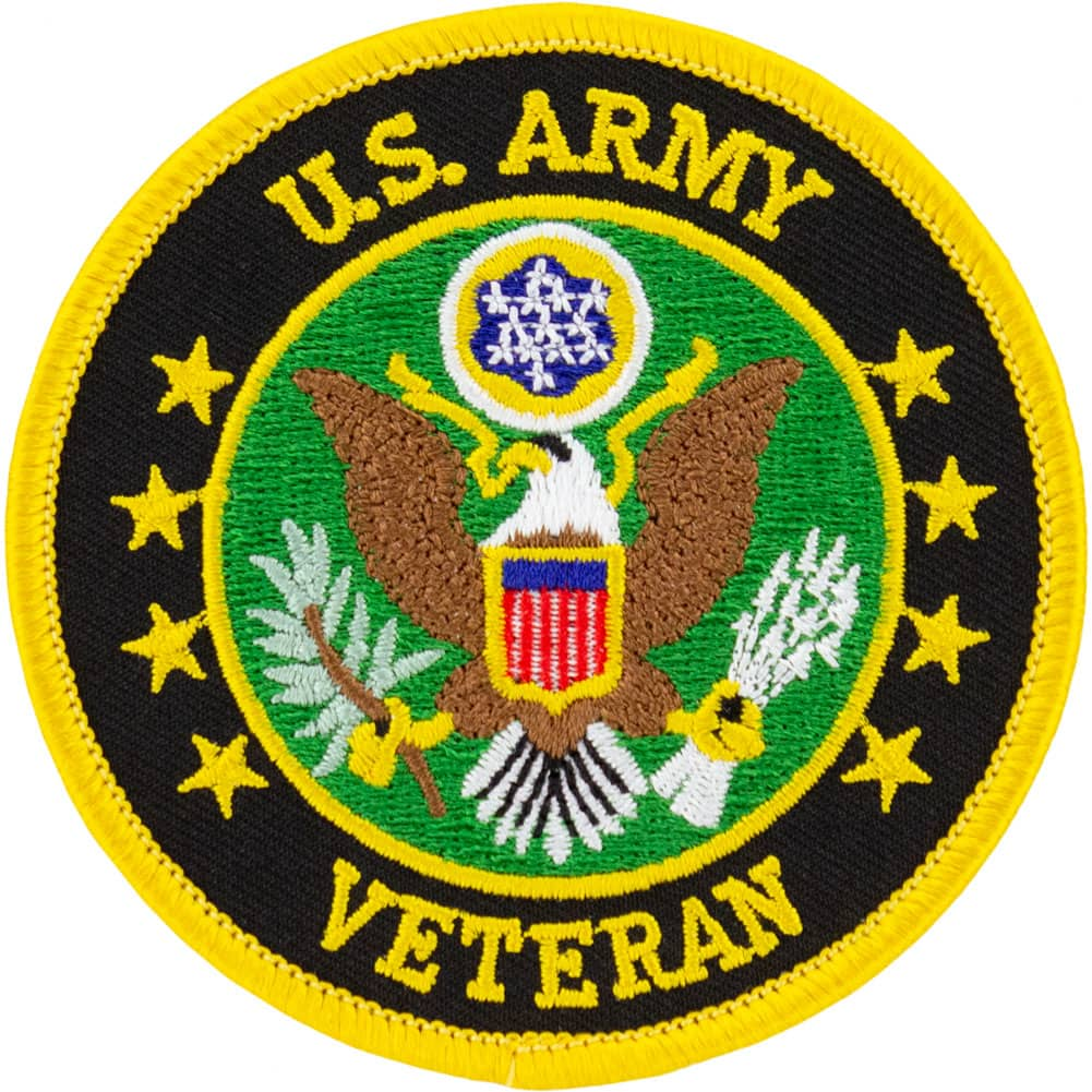 Army Veteran Round Patch