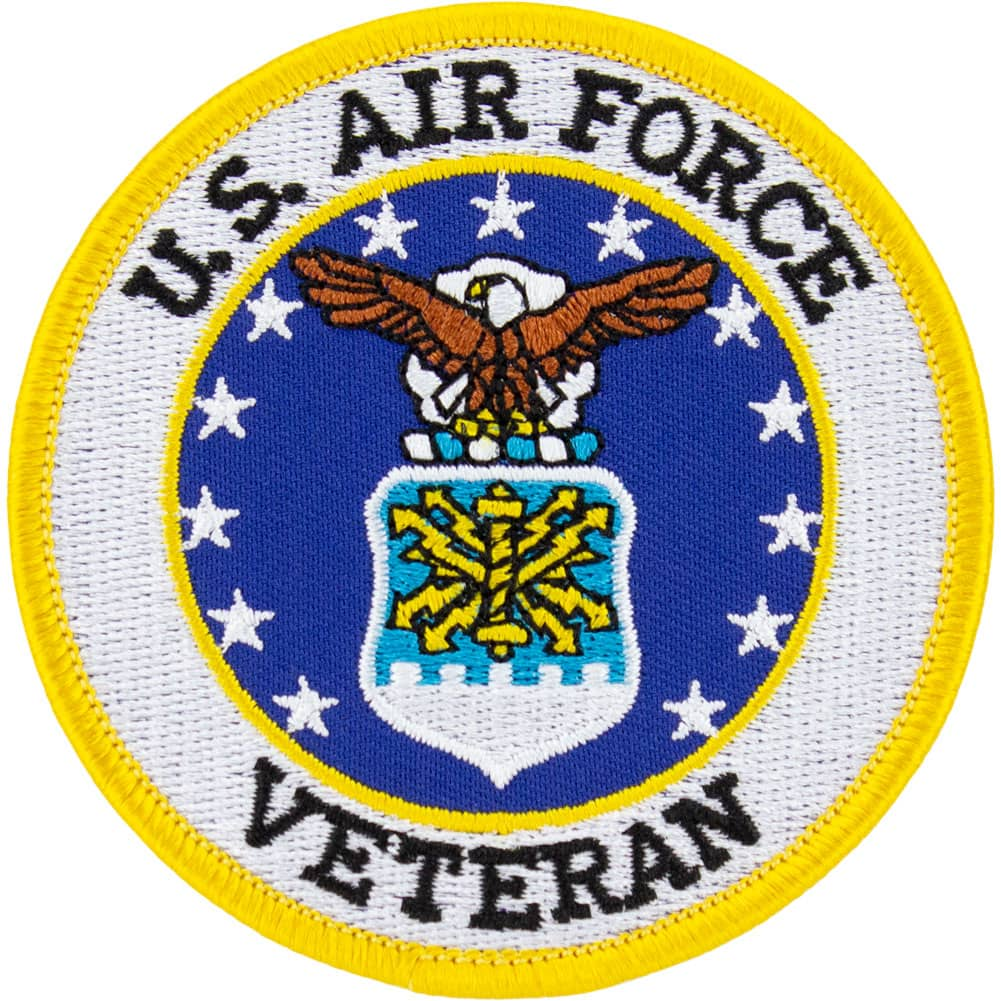Air Force Veteran Round Patch