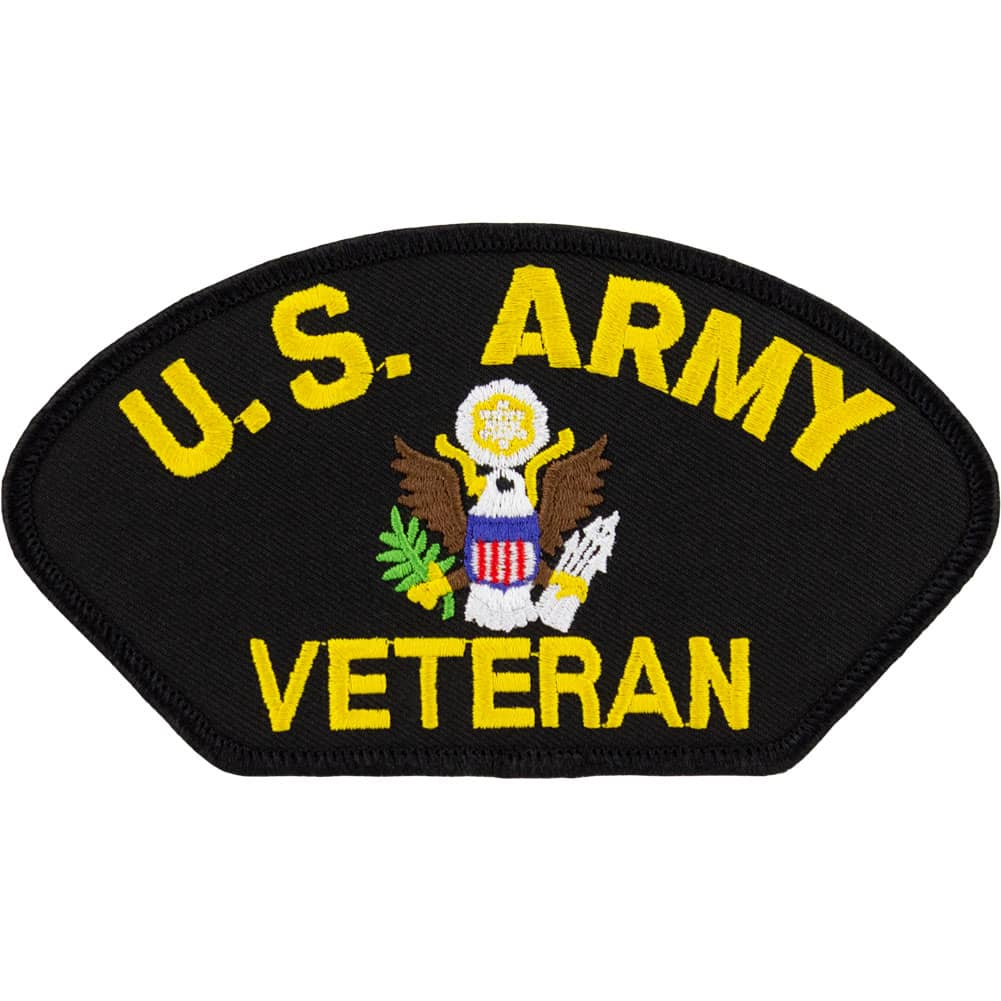 Army Veteran Vintage Style Hat Patch
