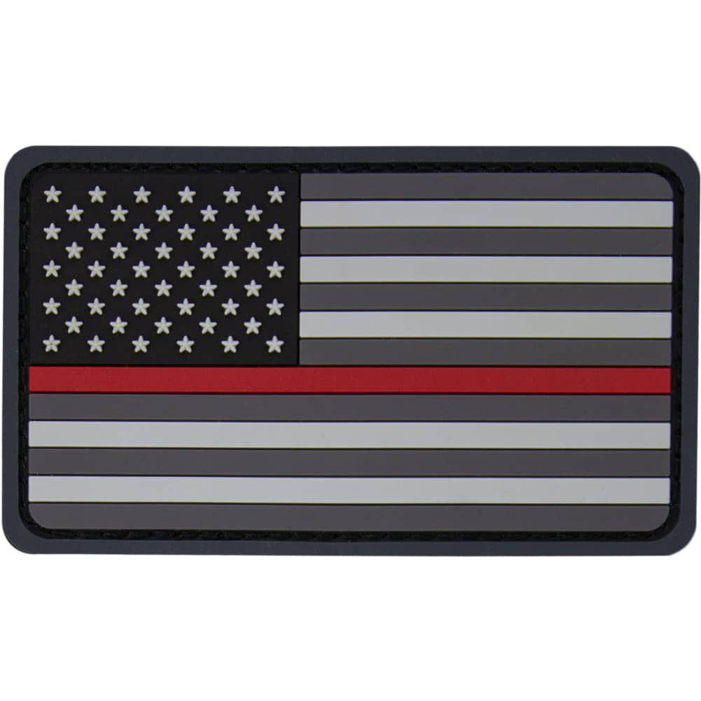 American Flag Red Line EMS PVC Patch