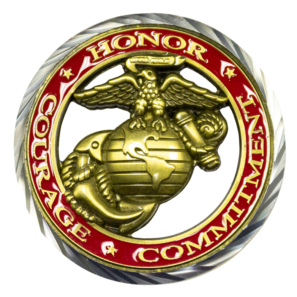 Marine Corps Core Values Coin