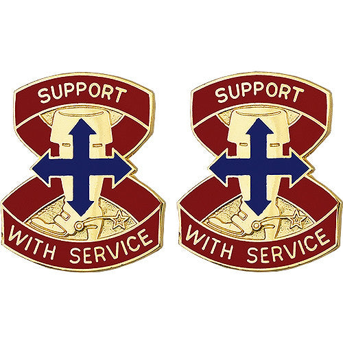 8th Support Group Unit Crest (Support With Service)