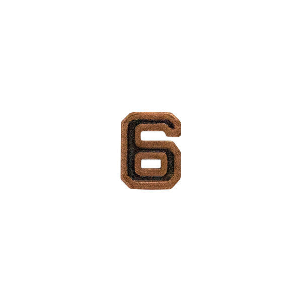 Prongless Bronze Numeral 6