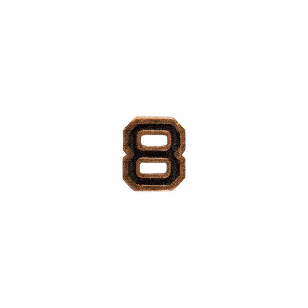 Prongless Bronze Numeral 8