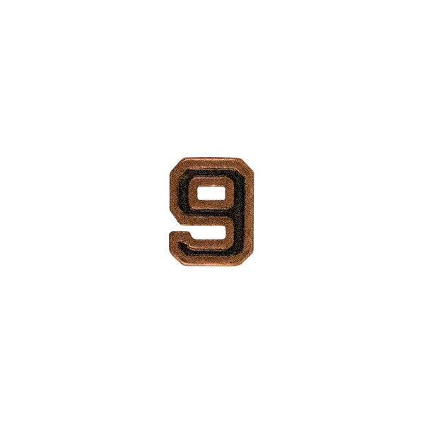 Prongless Bronze Numeral 9