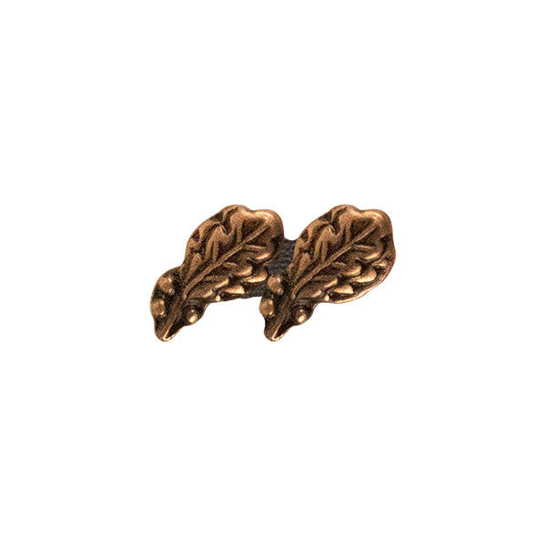 Prongless Double Bronze Oak Leaf Cluster