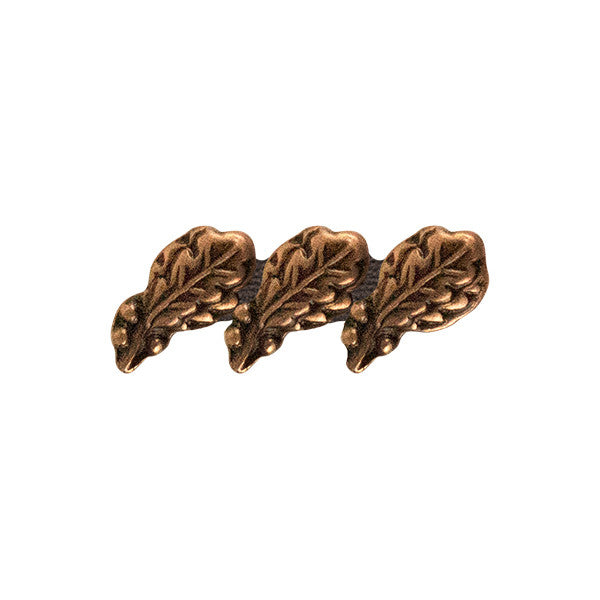 Prongless Triple Bronze Oak Leaf Cluster