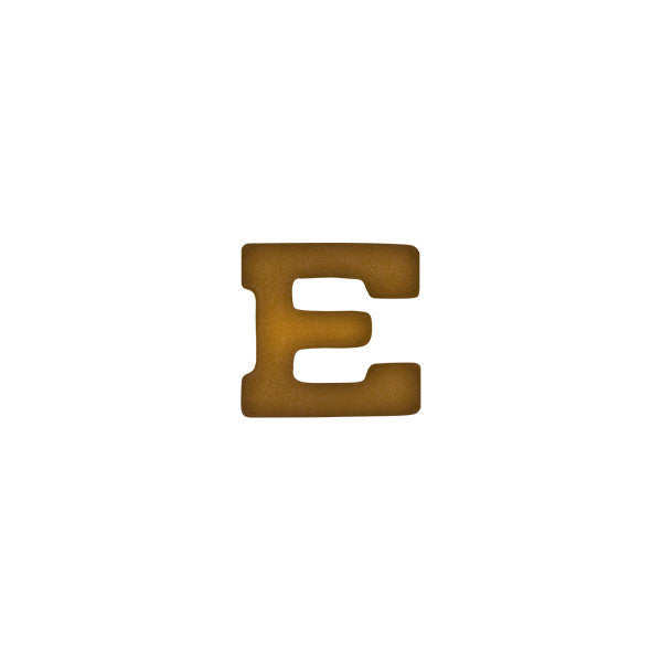Prongless Bronze Marksmanship Letter E Device