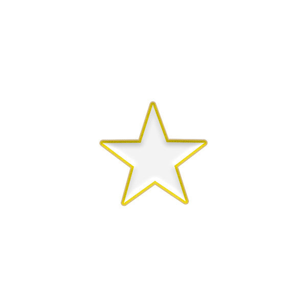 White Enamel Star Device