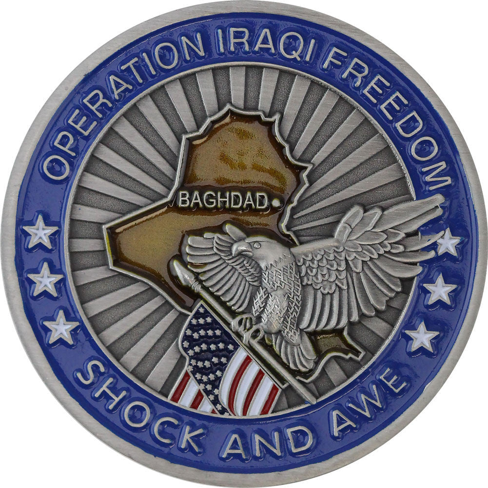 Operation Iraqi Freedom Challenge Coin - Front
