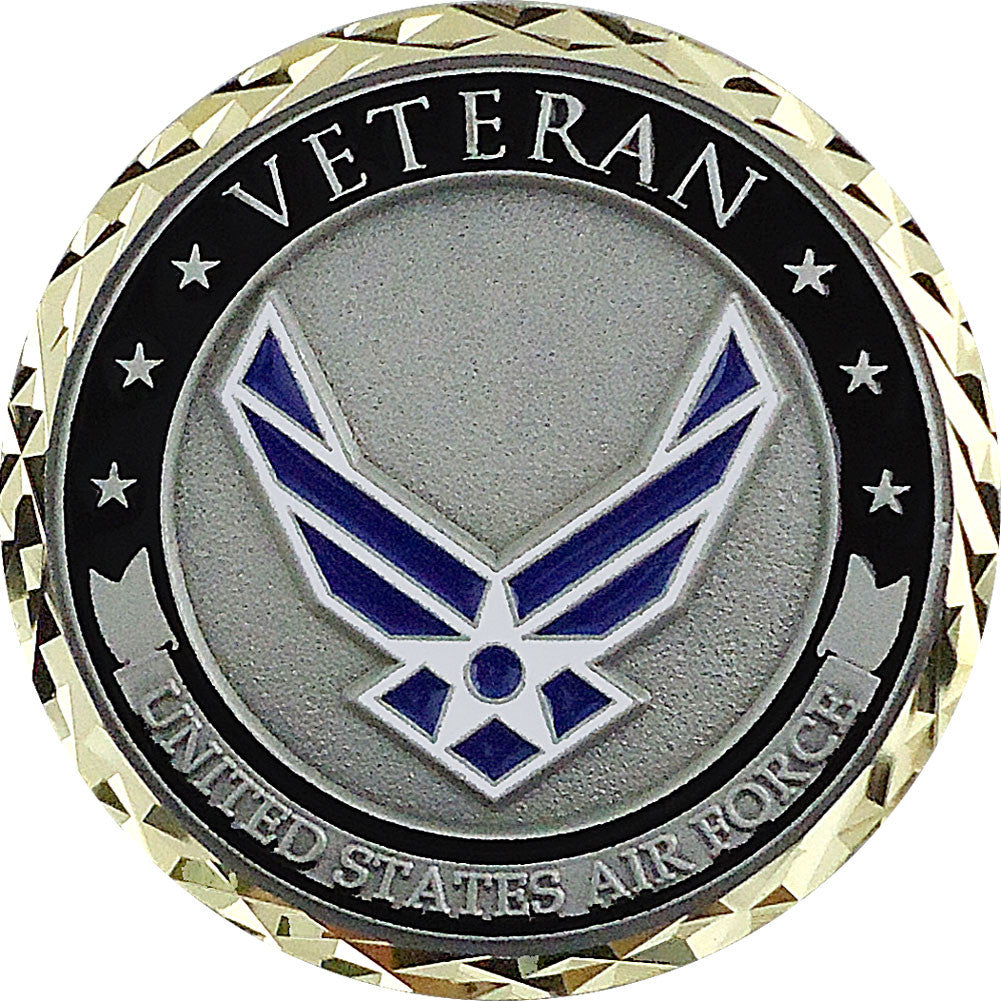 U.S. Air Force Veteran Coin - Front