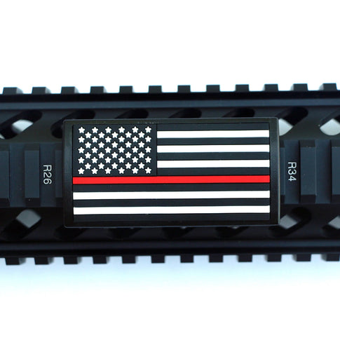 U.S. Flag Red Line Rail Covers - Left Star Field