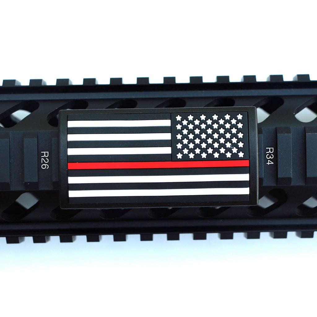 U.S. Flag Red Line Rail Covers - Right Star Field