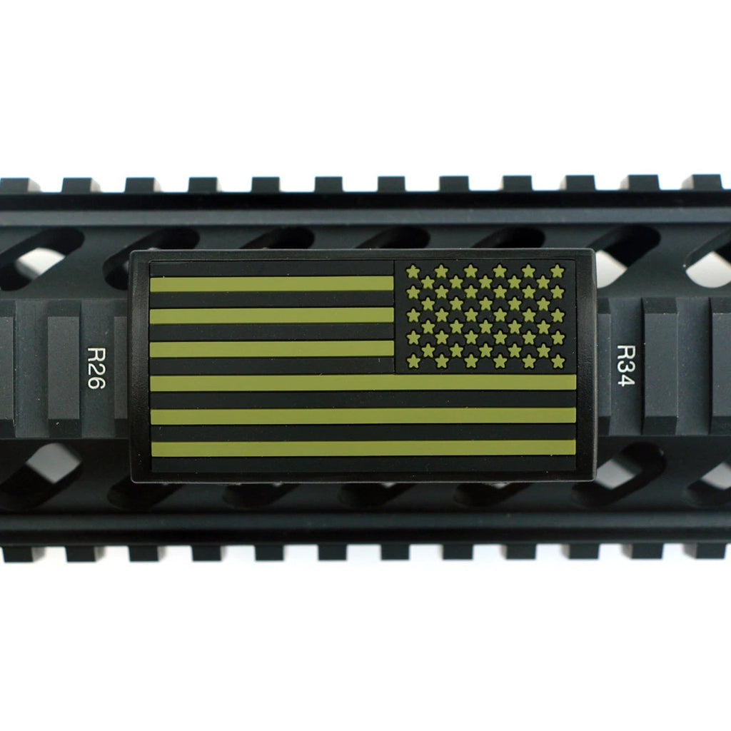 U.S. Flag OD Green Rail Cover - Right Star Field