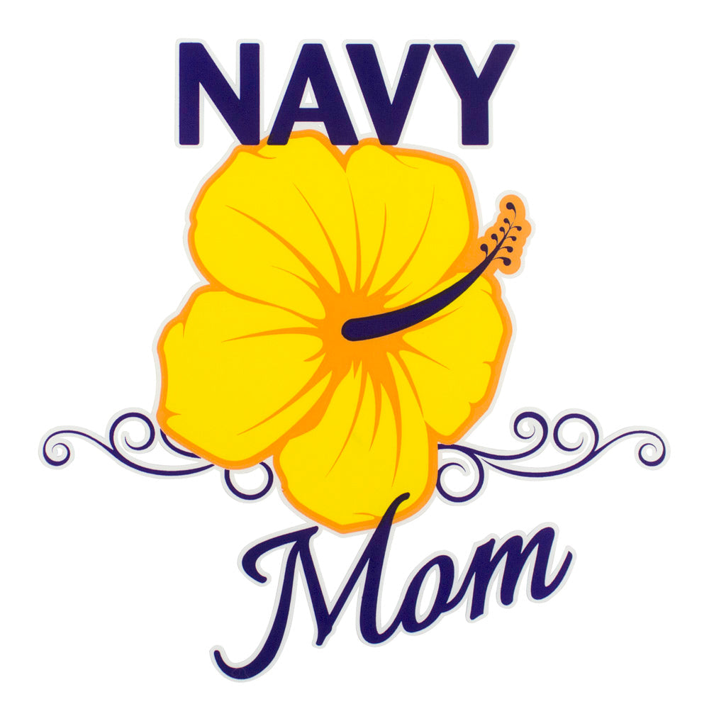 Navy Mom Clear Decal